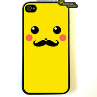 Iphone 4 Case Pickachu With Mustache iphone 4 by KeepCalmCaseOn