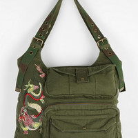 Urban Outfitters - Deena & Ozzy Dragon-Embroidered Hobo Bag