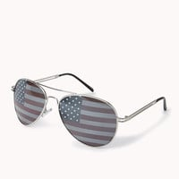 F6991 Star-Spangled Aviator Sunglasses
