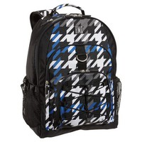 Gear-Up Blue Houndstooth Backpack