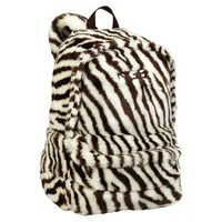 Fur Zebra Backpack