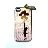 iPhone Case Banksy Balloon Girl iPhone Case by KeepCalmCaseOn