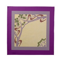 Art Nouveau Dinnerl Napkins from Zazzle.com