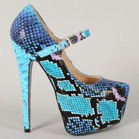 Virginia Reptile Mary Jane Platform Pump