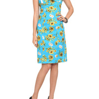 Hell Bunny Magali Sunflower Pencil Dress | Hot Topic