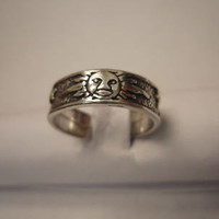Sterling Silver Adjustable Sun Toe Ring Antique Finish SVTR143