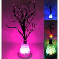 Color Changing LED Tree Blossom Mood Light Desk Floor Lamp