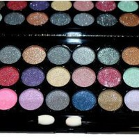 Elegant 48 Color Two Piece Glitter Eyeshadow Makeup Combo kit in 2 Black Palette