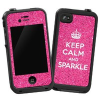 "Keep Calm and Sparkle ""Protective Decal Skin"" for Lifeproof iPhone 4/4s Case"