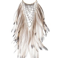Clemmie Watson Emu Feather Bib Necklace