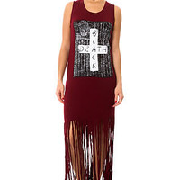Your Eyes Lie Dress Rad Death Fringe
