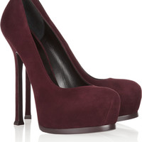 Saint Laurent | Tribute Two suede pumps | NET-A-PORTER.COM