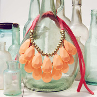Honeydew Necklace in Peach, Sweet Bohemian Jewelry