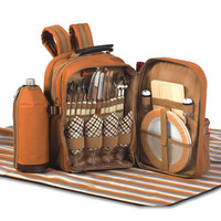 Picnic Plus Tremont 4-Person Insulated Picnic Backpack w/ Blanket