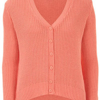 Coral rib cardigan - Knitwear & Cardigans - New In Clothing  - What's New