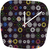 DENY Designs Home Accessories | Mikaela Rydin Midnight Bloom Modern Clock