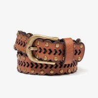 Boho Scalloped Faux Leather Belt
