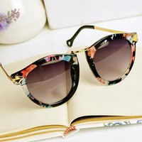 Flora Print Cat Eye Sunglasses from findallhere