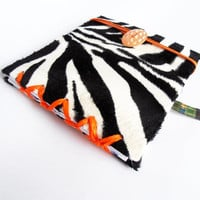 Zebra patterned modern sketchbook or journal handbounded gift for her gift for him artistic journal