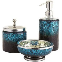 Peacock Mosaic Bath Accessories
