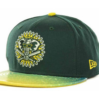 Oakland Athletics MLB Splatted Fitted 59FIFTY Cap