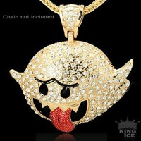 Amazon.com: Cartoon Gold Plated Hip Hop Pendant: Jewelry