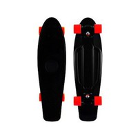 "Blank Vinyl Plastic Cruiser Skateboard Complete In Penny Nickel Size 27"" W/ Stereo-Sonic Tail Black/Red : Amazon.com : Sports & Outdoors"