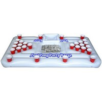 Amazon.com: Go Pong Pool Party Barge Floating Beer Pong Table with Cooler, White, 6-Feet: Sports & Outdoors