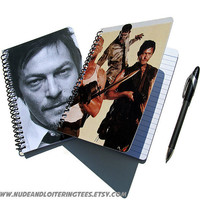 Daryl Dixon Walking Dead UpCycled Notebook Journal Zombies Merle