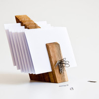 Letter Holder Wood Mail Organizer Desk Organization by lessandmore