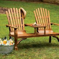 Adirondack Loveseat with Table - Outdoor Living Furniture - Outdoor Living - Home & Garden - NapaStyle