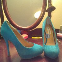 Steve Madden Blue Suede Heels Blue Teal Light Blue Pumps 64% off retail
