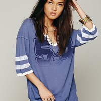 Free People We The Free Distressed Flocking Tee