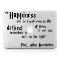 Amazon.com: Happiness Can Be Found Even in the Darkest of Times If One Only Remembers to Turn on the Light. -Professor Albus Dumbledore Harry Potter Macbook Pro Vinyl Wall Art Inspirational Quotes and Saying Home Decor Decal Sticker Ipad Apple Macbook Air
