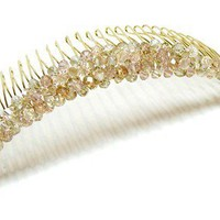 Tilleyjewels Bride Crystal Champagne Princess Headpiece | tilleyjewels - Wedding on ArtFire