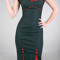 rockabilly clothing, sexy fitted dress