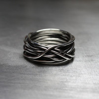 Mens Ring, Mens Wedding Band, Wire Wrapped Ring