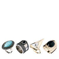 New Look Multi Stone Ring Pack at asos.com