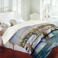 Rosie Brown Dinner Key Marina Duvet Cover