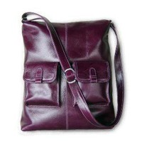 MICHELLE Larger version Deep purple leather by artoncrafts
