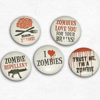 I Heart Zombies - Set of 5 Magnets