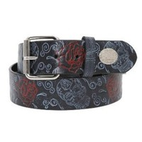 Rock Rebel Sugar Skull Rose Belt