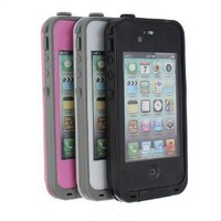 MaxSale Lifeproof Waterproof Shockproof PC Case Cover for iPhone 4 4S 4G