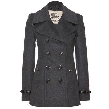 mytheresa.com -  Wool And Cashmere Pea Coat  » Burberry London ∇ mytheresa - Luxury Fashion for Women / Designer clothing, shoes, bags