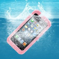 Amazon.com: AGPtek® Pink IPX8 Certificated 20ft Waterproof Hard Case Cover for Apple iPhone 4 4S 5 (including Pink Neck Strap): Cell Phones & Accessories