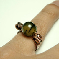 size 6 old copper wire ring   handmade wire rings by Dereck Maltez