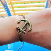 Adjustable Vintage Hunger Games Bacelet Anchor