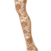 Rose Lace Tights