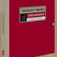 Takeout Menu Organizer Knock Knock Take Out Menus