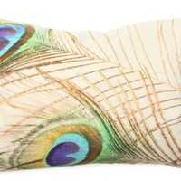 One Kings Lane - Easy Elegance - Peacock Pillow